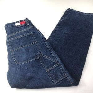 VINTAGE Tommy Hilfiger Spell out Blue Jeans 34/34
